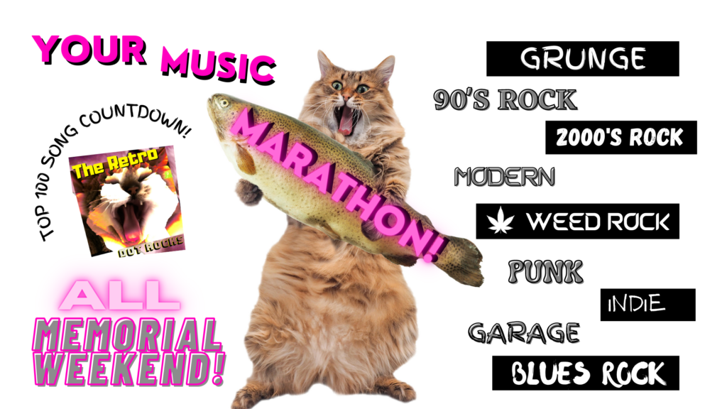 Your Music Marathon 100 Song Countdown ALL Memorial Weekend!